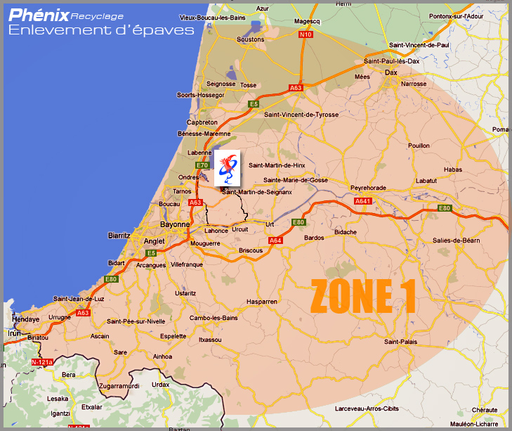 Carte pays basque et landes   Mes prochains voyages